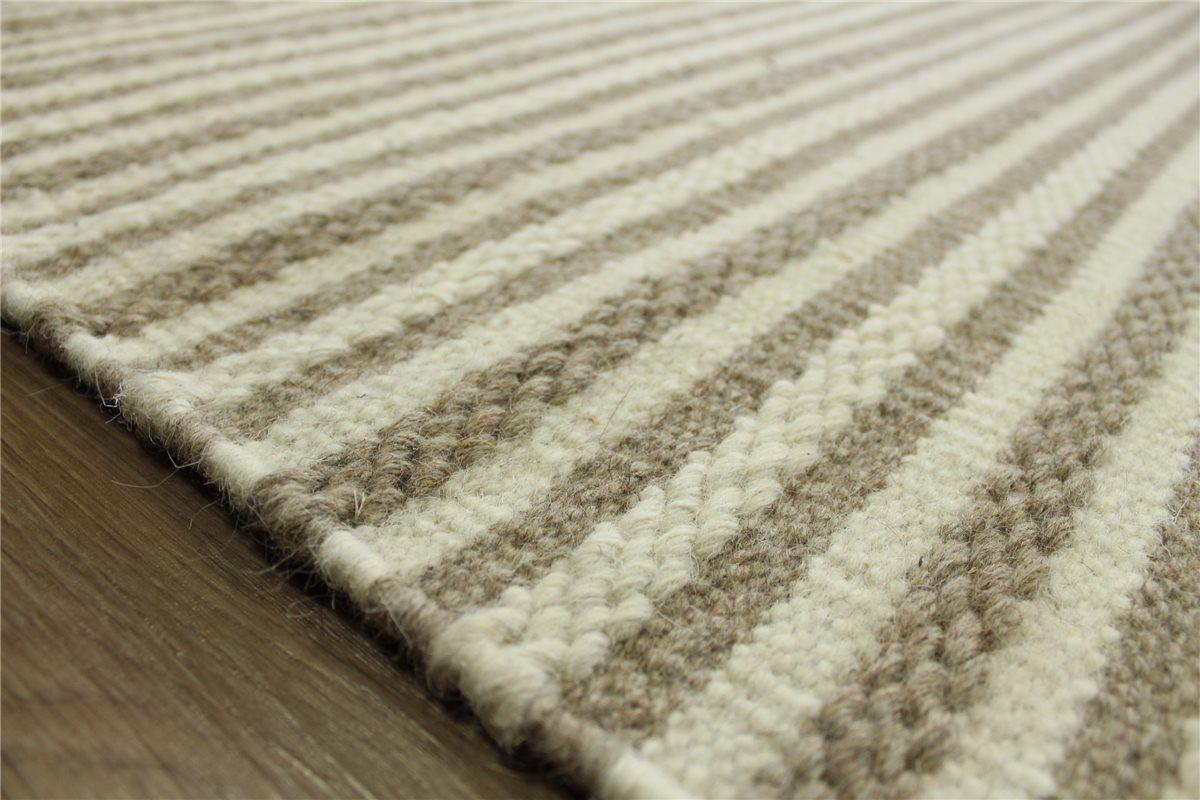 teppich kelim curran 160x230 cm 100 wolle handgewebt beige braun ebay. Black Bedroom Furniture Sets. Home Design Ideas