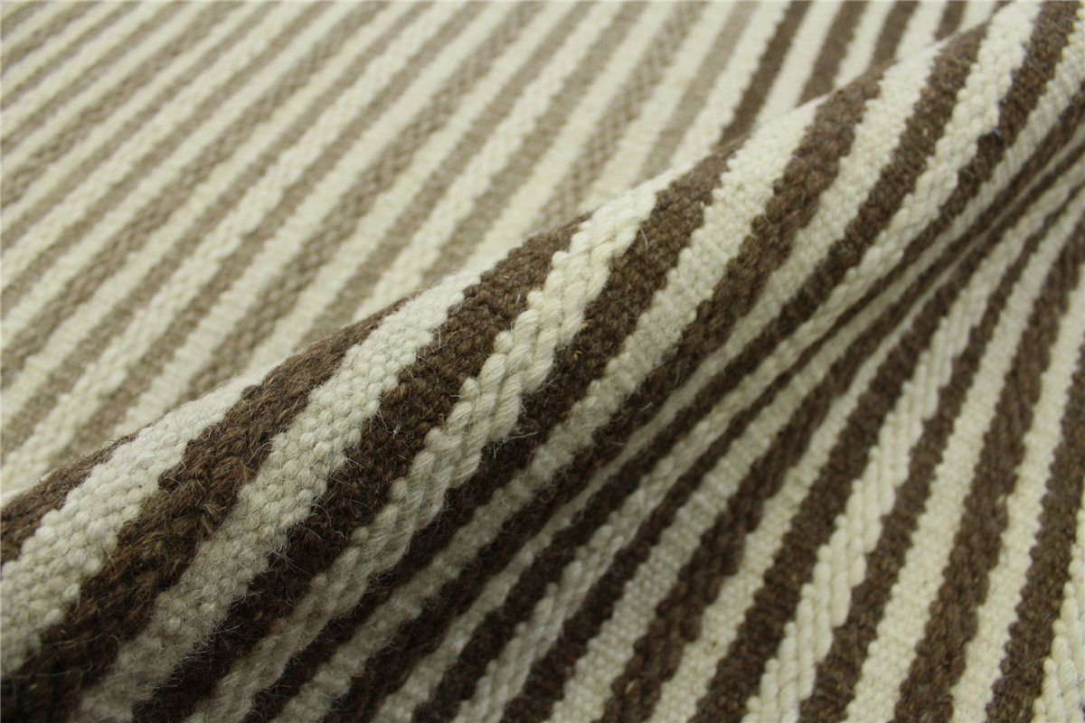 rug kelim curran 160x230 cm 100 wolle hand woven beige brown ebay. Black Bedroom Furniture Sets. Home Design Ideas