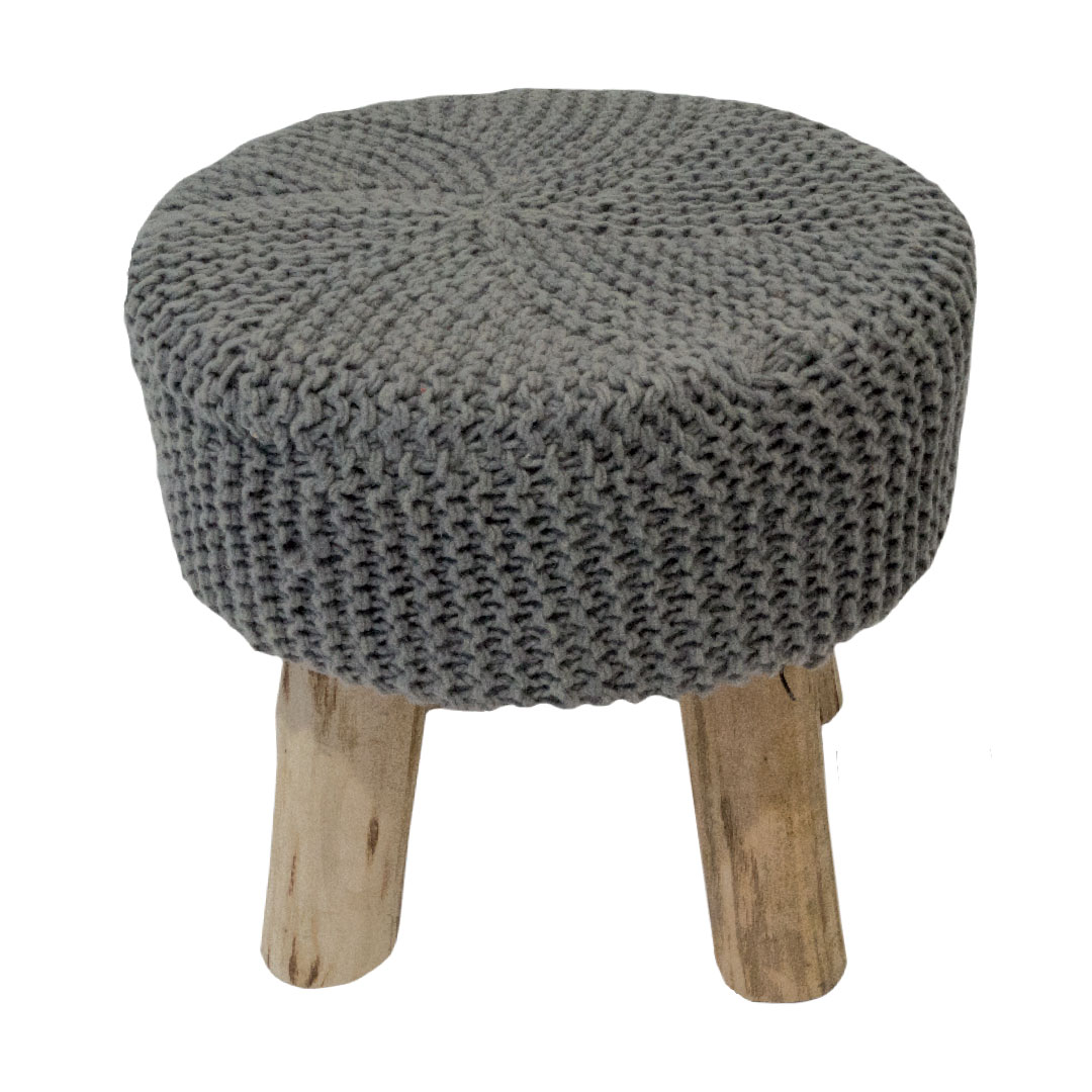 strickpouf sitzkissen 100 wolle sitzhocker hocker pouf 40x40x40 hocker grau ebay. Black Bedroom Furniture Sets. Home Design Ideas