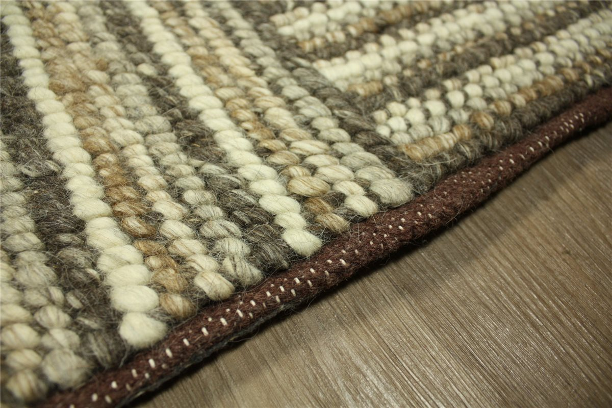 designer rug corbin 240x340 cm 100 wool hand woven brown ebay. Black Bedroom Furniture Sets. Home Design Ideas