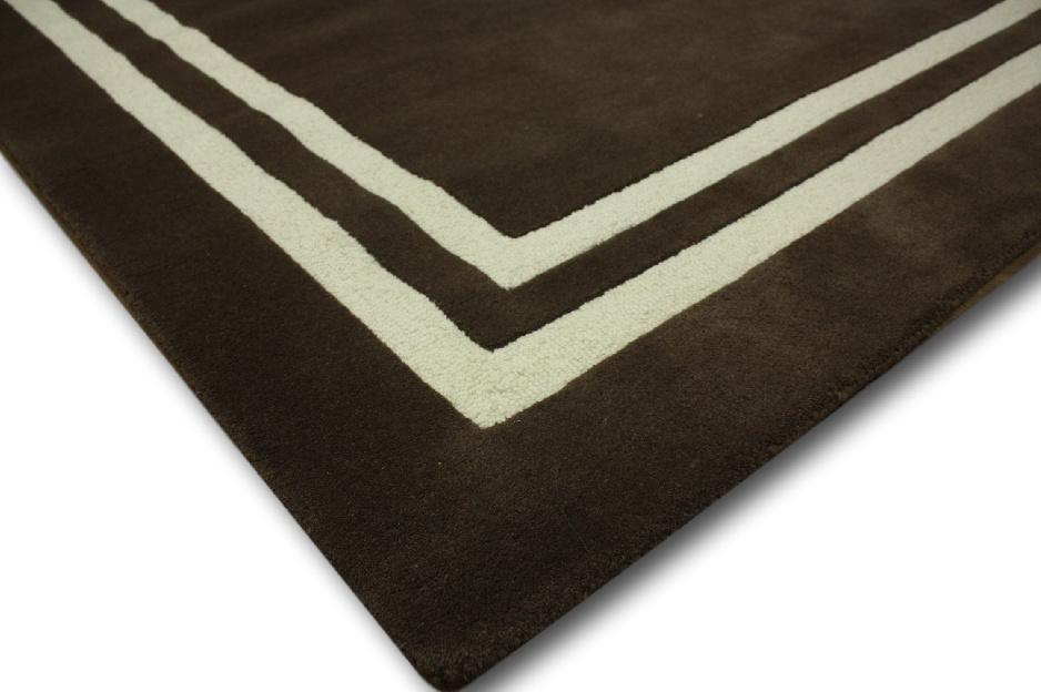 designer Teppich 150×240 cm 100% Wolle Handtuft braun  eBay