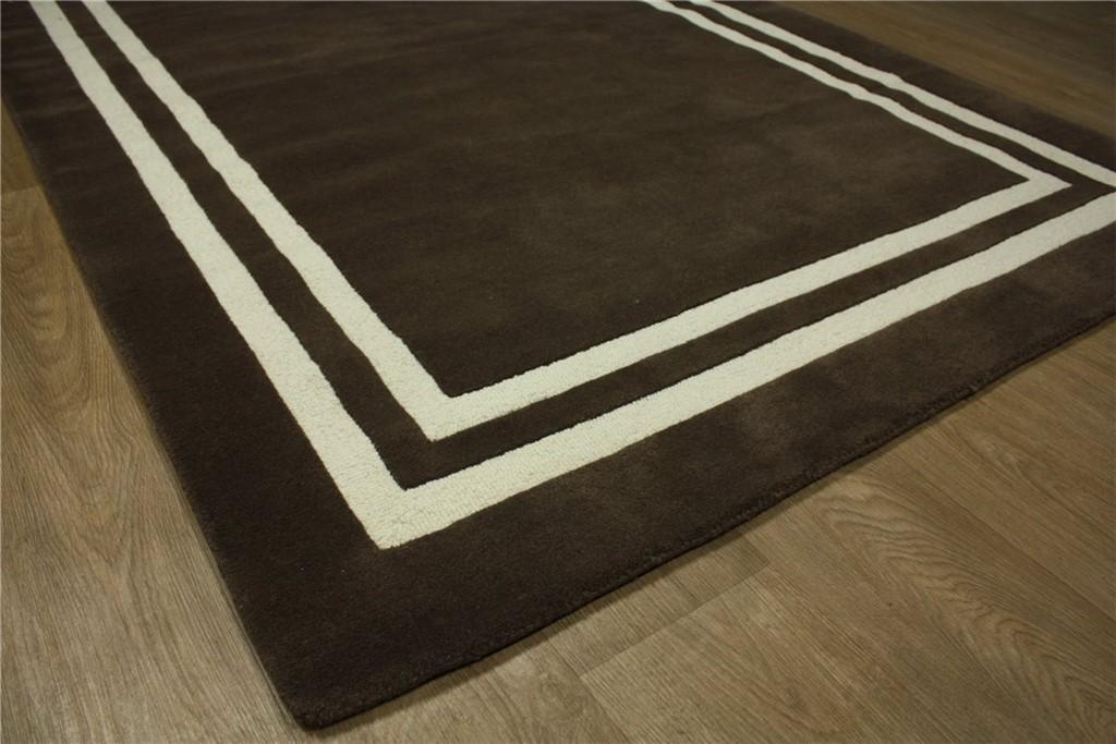 designer teppich 150x240 cm 100 wolle handtuft braun ebay. Black Bedroom Furniture Sets. Home Design Ideas