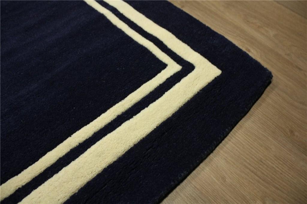 designer teppich 150x240 cm 100 wolle handtuft blau ebay. Black Bedroom Furniture Sets. Home Design Ideas
