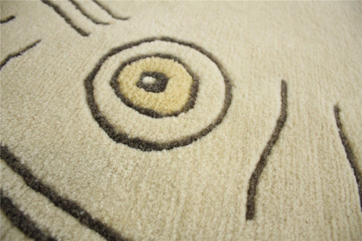 Teppich Original Nepal fein Rund 290x290 cm 100 % Wolle beige B. Ware   eBay