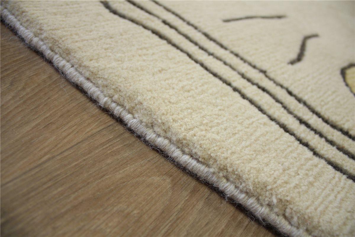 Teppich Original Nepal fein Rund 290x290 cm 100 % Wolle beige B. Ware | eBay