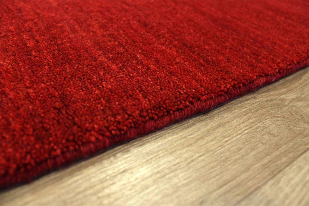 hochwertiger teppich gabbeh fein 4 gr en 100 wolle rot meliert ebay. Black Bedroom Furniture Sets. Home Design Ideas