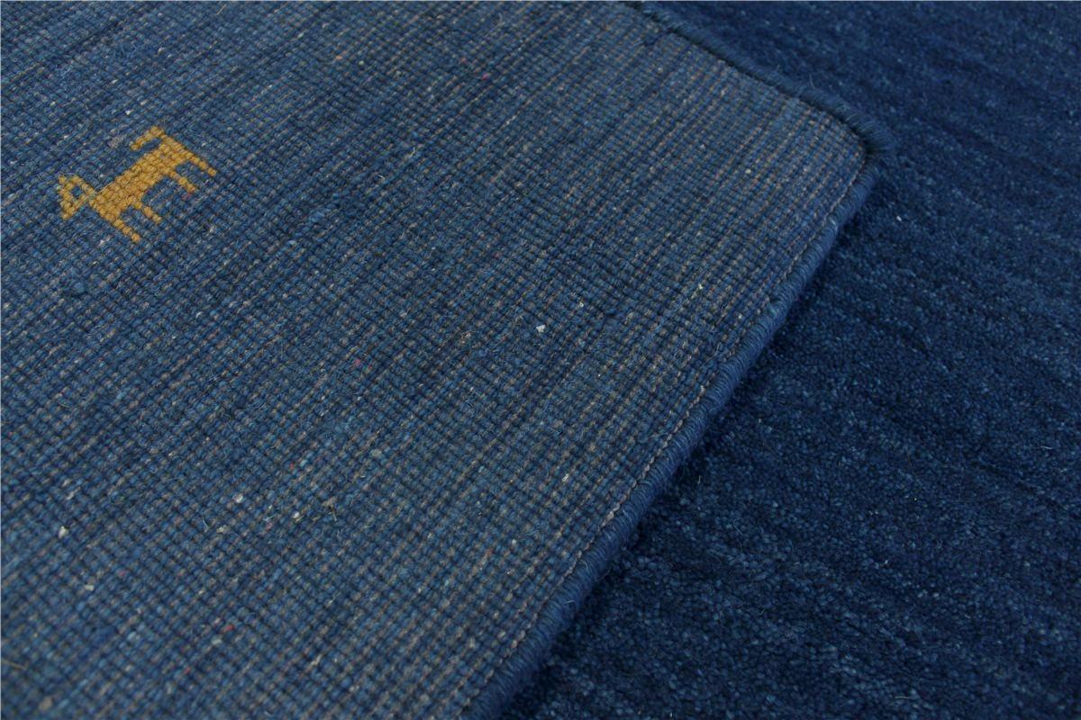 hochwertiger teppich gabbeh fein 170x240 cm 100 wolle blau meliert ebay. Black Bedroom Furniture Sets. Home Design Ideas