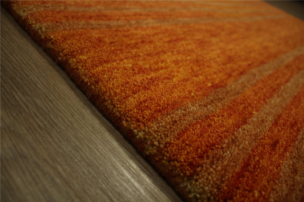 carpet rug gabbeh twist fine hand knotted 120x180 cm 100 wool terra rust ebay. Black Bedroom Furniture Sets. Home Design Ideas