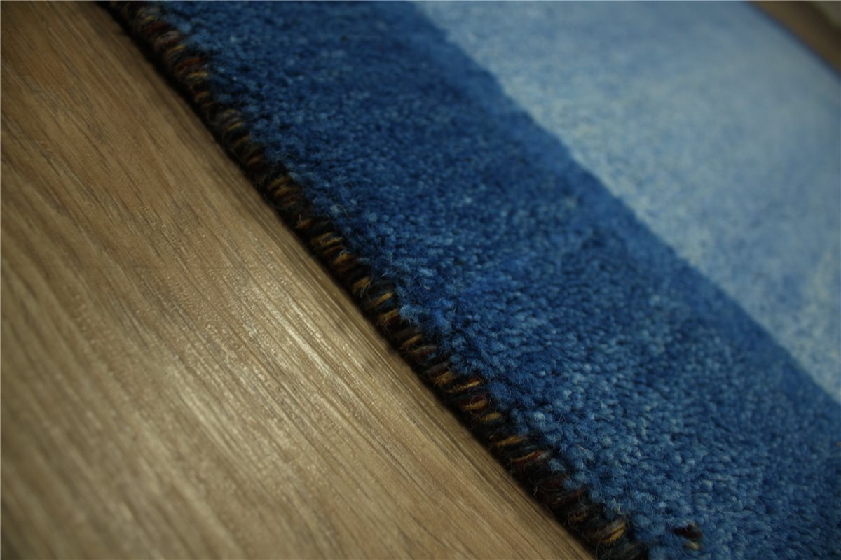 teppich gabbeh twist handgekn pft 120x180 cm 100 wolle blau meliert ebay. Black Bedroom Furniture Sets. Home Design Ideas