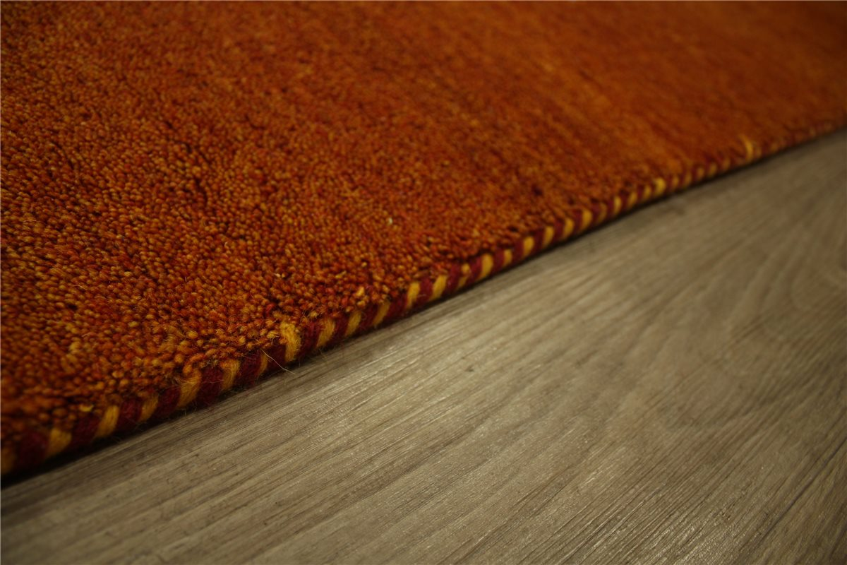 teppich gabbeh twist handgekn pft rust 250x250 cm 100 wolle rost ebay. Black Bedroom Furniture Sets. Home Design Ideas