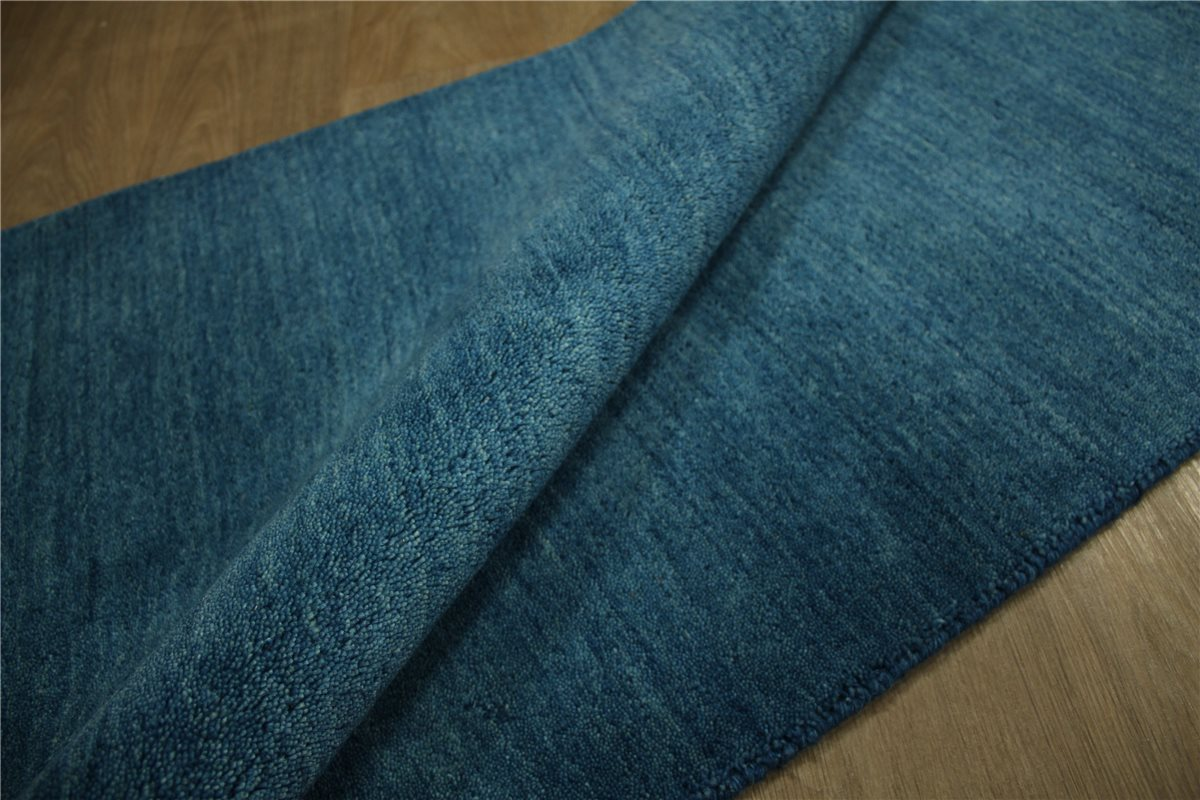 teppich gabbeh br cke handgewebt 90x160 cm 100 wolle petrol blau ebay. Black Bedroom Furniture Sets. Home Design Ideas