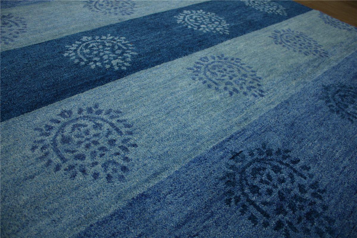 teppich gabbeh exellent handgekn pft 250x250 cm 100 wolle blau meliert ebay. Black Bedroom Furniture Sets. Home Design Ideas