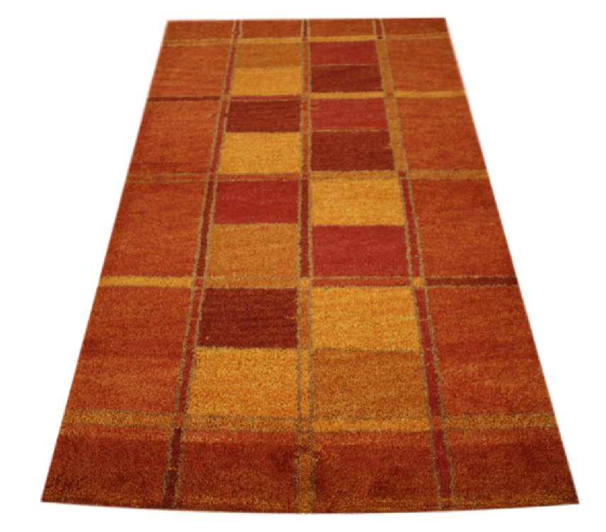 carpet rug gabbeh br cke hand knotted 90x160 cm 100 wool terra red ebay. Black Bedroom Furniture Sets. Home Design Ideas