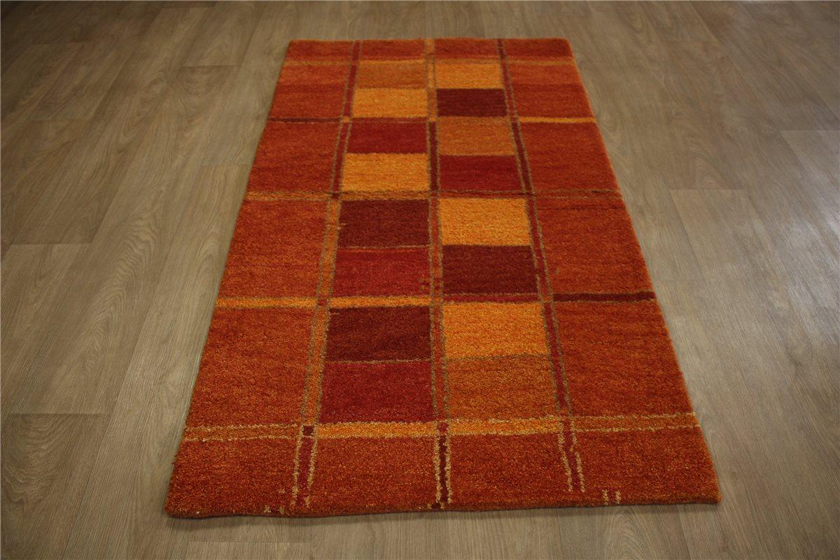teppich gabbeh br cke handgekn pft 90x160 cm 100 wolle terra rot ebay. Black Bedroom Furniture Sets. Home Design Ideas
