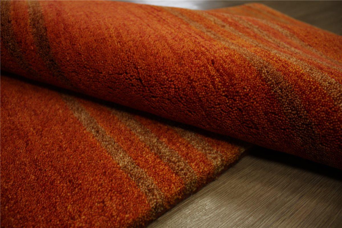 teppich gabbeh br cke handgekn pft 90x160 cm 100 wolle terra ebay. Black Bedroom Furniture Sets. Home Design Ideas
