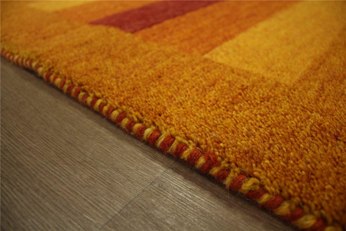 teppich gabbeh br cke handgekn pft 90x160 cm 100 wolle gelb rot ebay. Black Bedroom Furniture Sets. Home Design Ideas