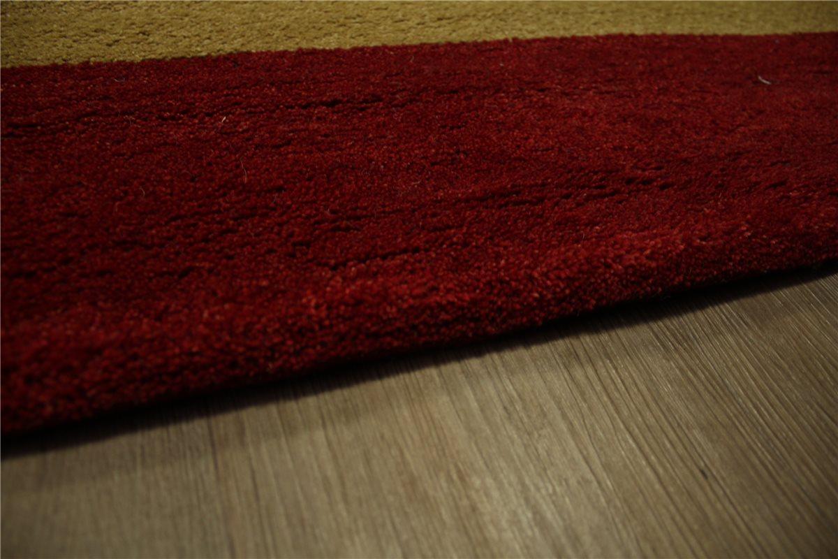 teppich nomaden gabbeh handgekn pft schurwolle 200x290 cm 100 wolle rot gelb ebay. Black Bedroom Furniture Sets. Home Design Ideas