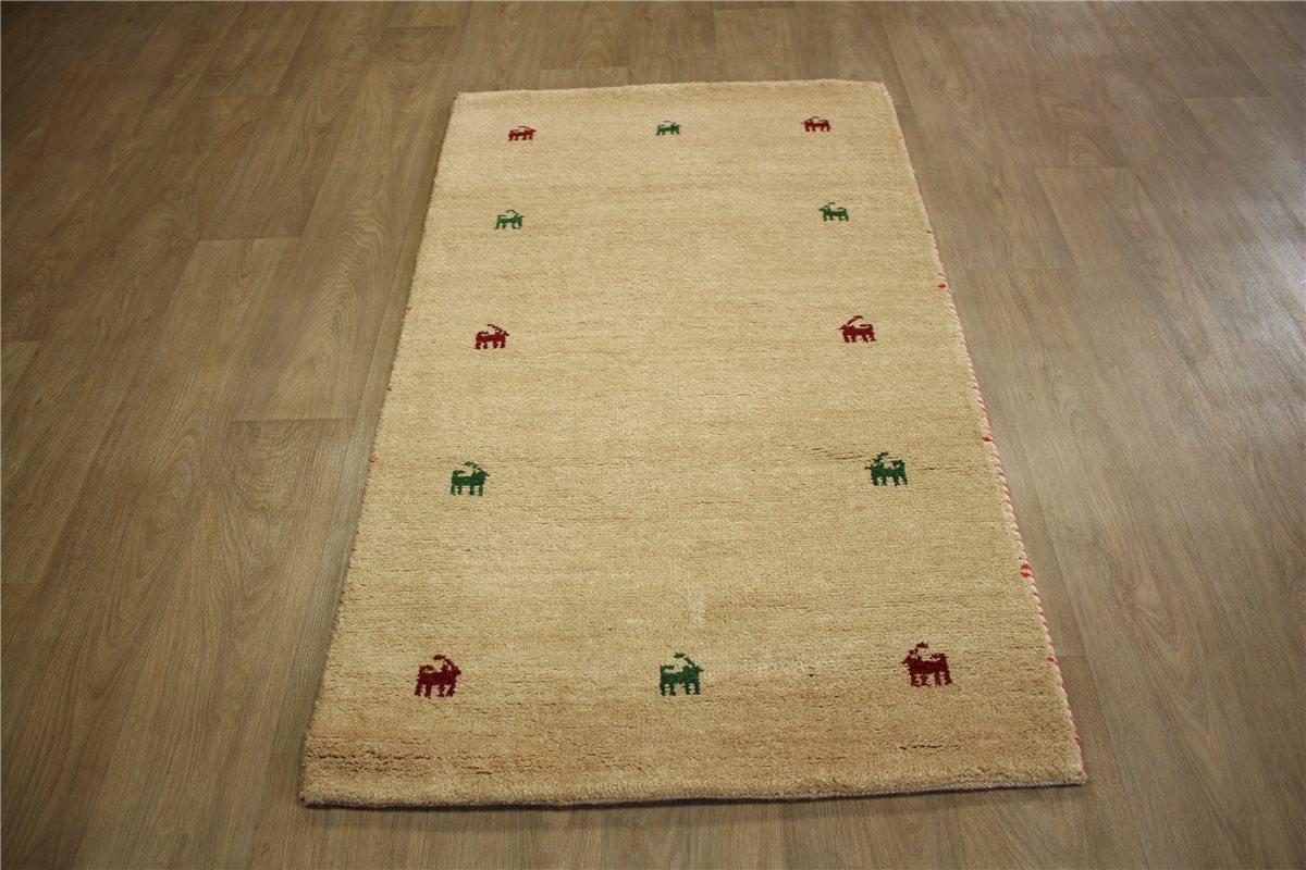 teppich gabbeh schurwolle handgekn pft 90x160 cm 100 wolle beige rot gr n ebay. Black Bedroom Furniture Sets. Home Design Ideas