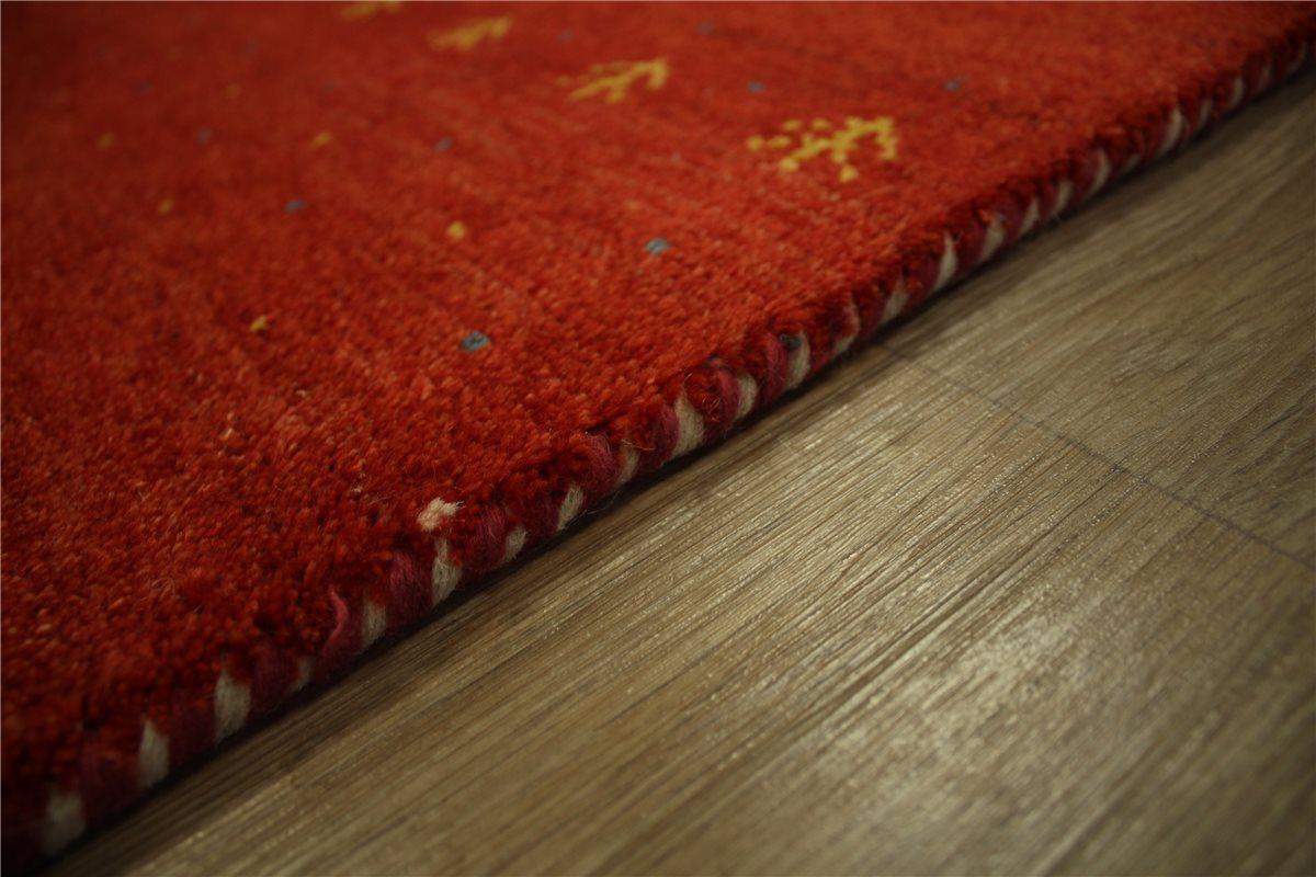 teppich nomaden gabbeh handgekn pft 90x160 cm 100 wolle gelb rot meliert ebay. Black Bedroom Furniture Sets. Home Design Ideas