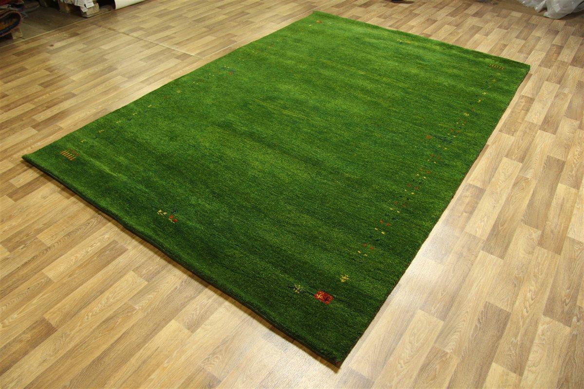 Perserteppich grün  Teppich Gabbeh Modern ~ 200x300 cm ~ 100% Wolle ~ 5 Kg /m² ...