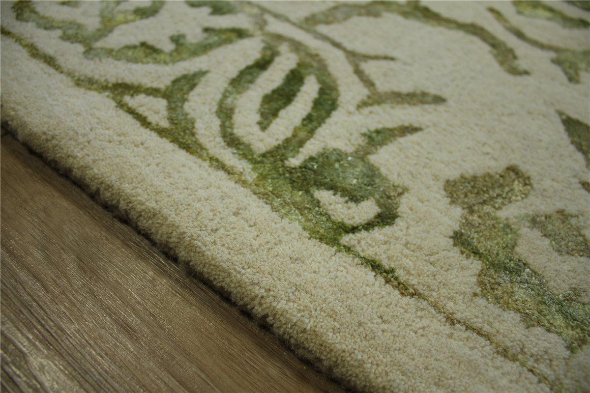teppich vintage 160x230 cm 100 wolle mit seidenanteil beige gr n ebay. Black Bedroom Furniture Sets. Home Design Ideas