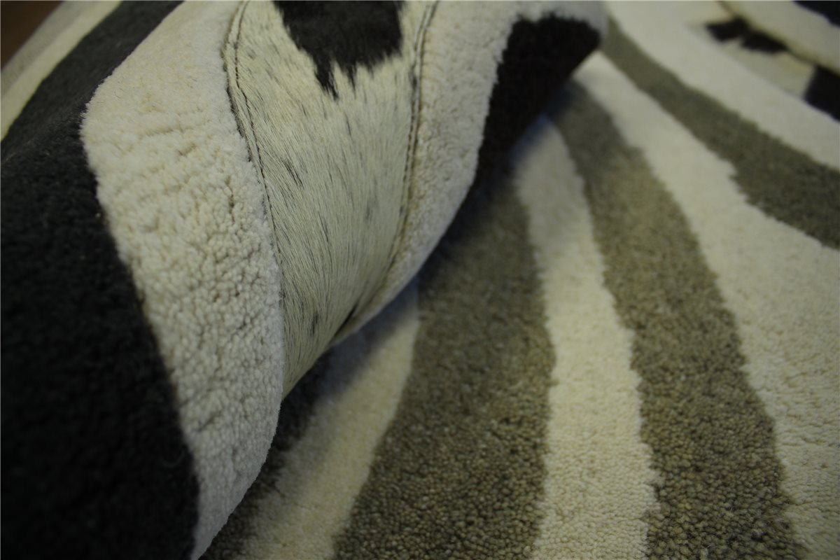 designer teppich patchwork echt leder und wolle 160x230 cm cowhide kuhfell. Black Bedroom Furniture Sets. Home Design Ideas