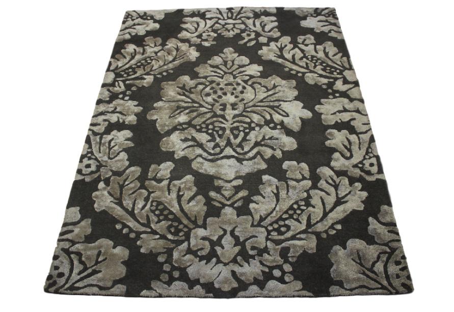 teppich handarbeit 170x230 cm 100 wolle mit seidenanteil braun ebay. Black Bedroom Furniture Sets. Home Design Ideas