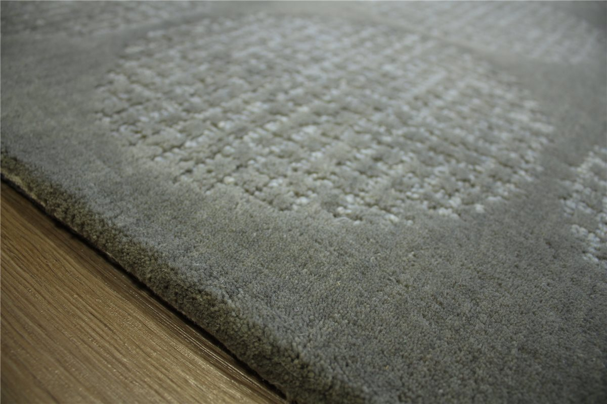 teppich schurwolle handarbeit 160x230 cm 100 wolle grau. Black Bedroom Furniture Sets. Home Design Ideas