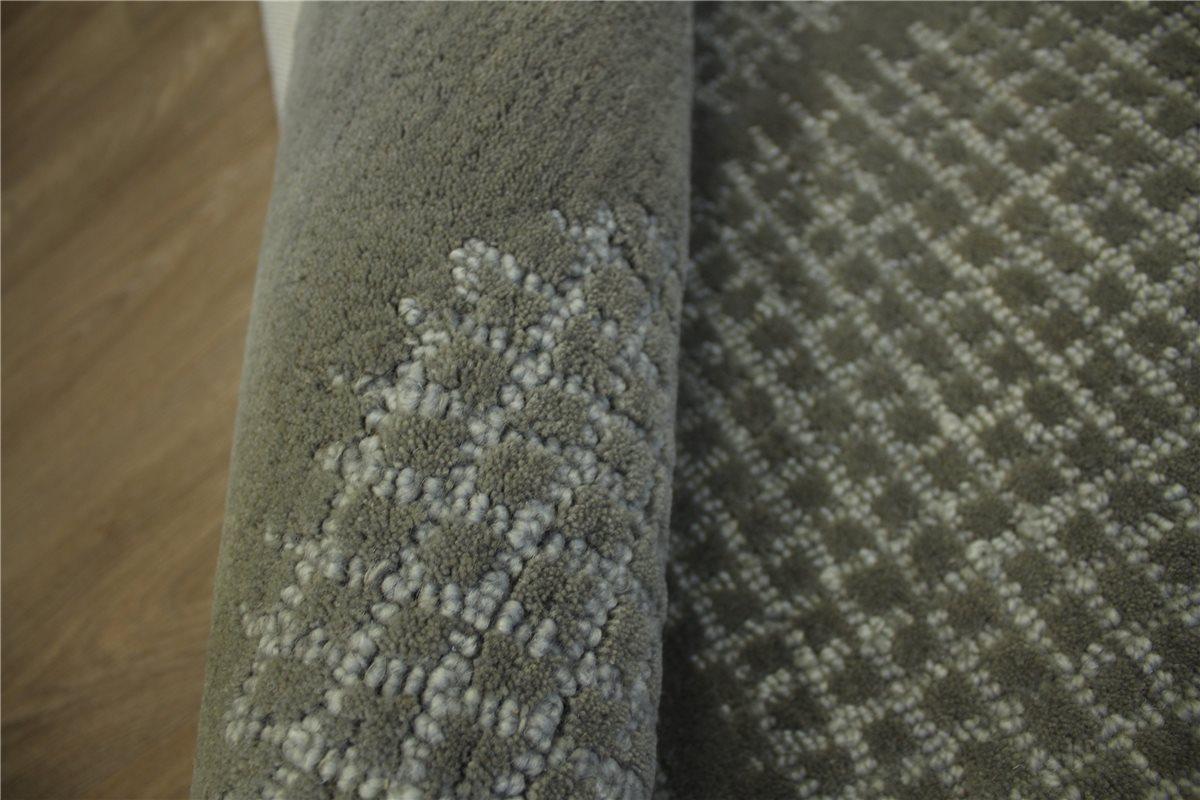 teppich schurwolle handarbeit 160x230 cm 100 wolle grau ebay. Black Bedroom Furniture Sets. Home Design Ideas