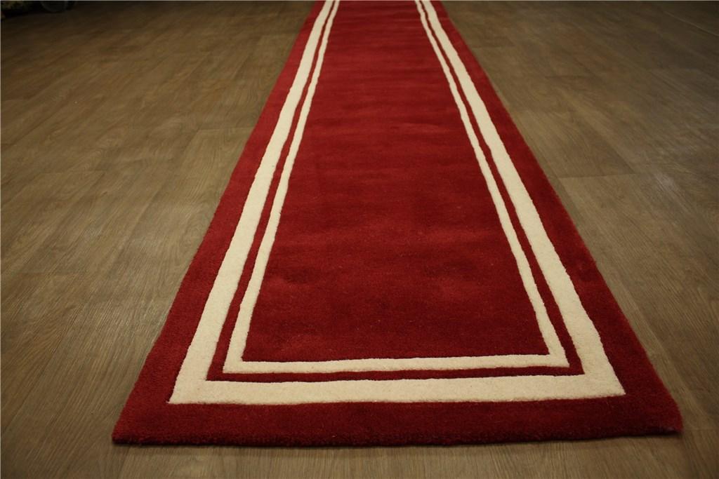 teppich galerie l ufer 80x400 cm 100 wolle handtuft handarbeit 4kg m rot ebay. Black Bedroom Furniture Sets. Home Design Ideas