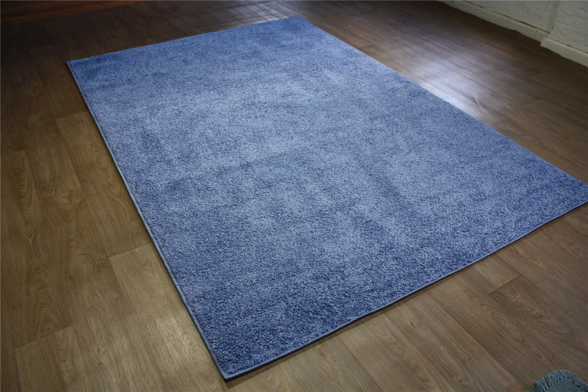 teppich shaggy relax hochflor langflor blau 200x290 cm rauchblau ebay. Black Bedroom Furniture Sets. Home Design Ideas