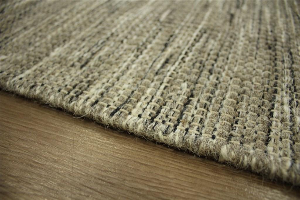 teppich kelim 160x230 cm 100 wolle handgewebt braun schwarz woll wei ebay. Black Bedroom Furniture Sets. Home Design Ideas