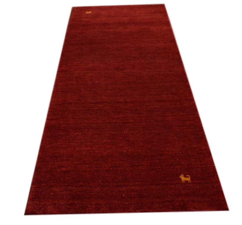 teppich gabbeh fein l ufer handgewebt 85x200 cm 100 wolle rot meliert ebay. Black Bedroom Furniture Sets. Home Design Ideas