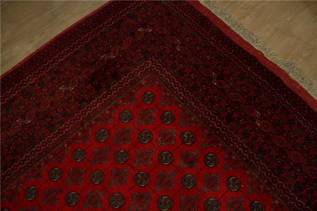 teppich orient afghan mauri 300x400 cm 100 wolle handgekn pft schwarz rot ebay