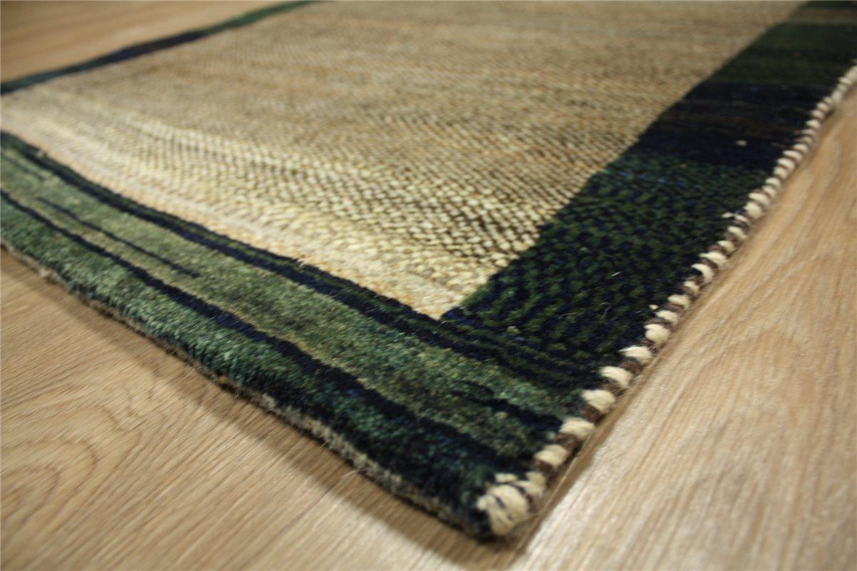 perser teppich gabbeh br cke 141x74 cm handgekn pft 100 wolle meliert ebay. Black Bedroom Furniture Sets. Home Design Ideas