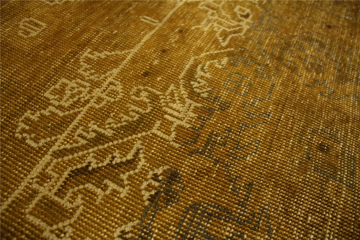 teppich vintage overdyed 385x240 cm 100 wolle used look gold ebay. Black Bedroom Furniture Sets. Home Design Ideas