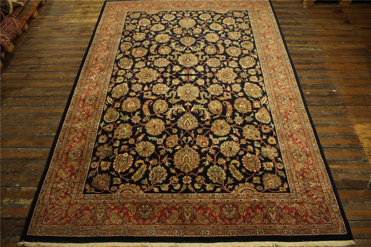orient teppich fein tapis rug 250x350 cm 100 wolle handgekn pft blau ebay. Black Bedroom Furniture Sets. Home Design Ideas