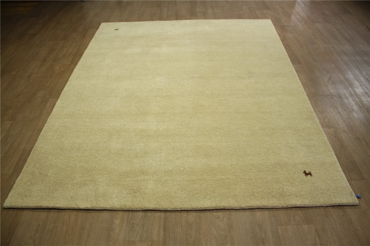 teppich gabbeh fein handgewebt 200x250 cm 100 wolle beige ebay. Black Bedroom Furniture Sets. Home Design Ideas