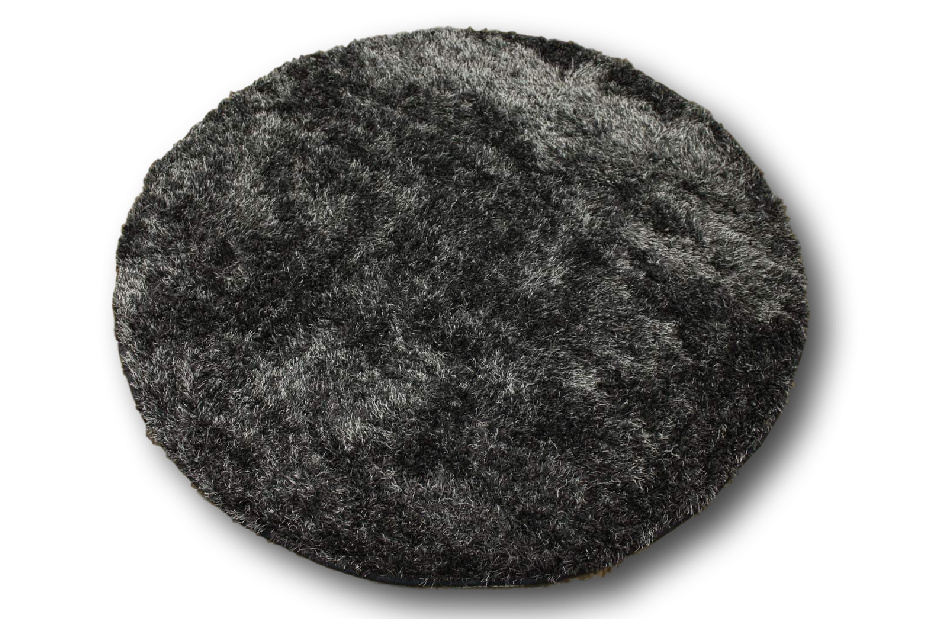 designer tapis shaggy langflor d 39 un pais rond 150x150 cm anthracite ebay. Black Bedroom Furniture Sets. Home Design Ideas