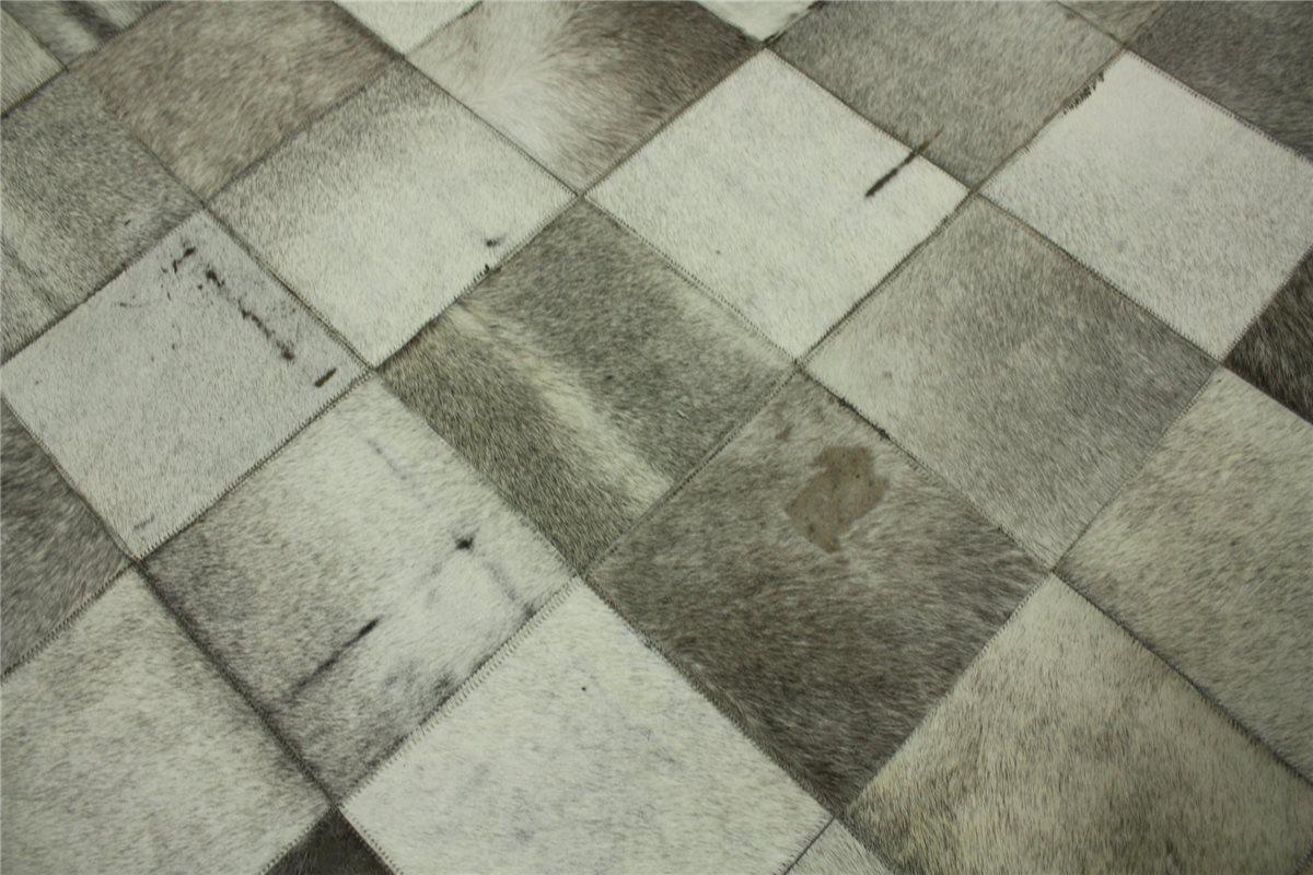 Tapis design patchwork cuir v ritable 170x240 cm vintage peau de vache ebay - Tapis cuir patchwork ...