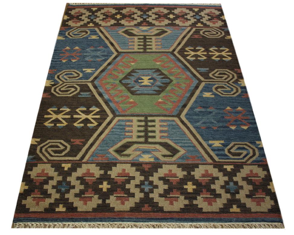 teppich nomaden kelim turkmen 170x240 cm 100 wolle handgewebt ebay. Black Bedroom Furniture Sets. Home Design Ideas