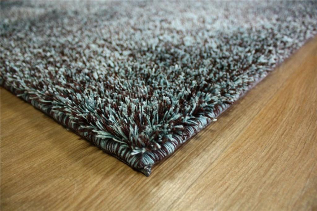 designer teppich shaggy hochflor langflor 140x200 cm t rkis braun ebay. Black Bedroom Furniture Sets. Home Design Ideas
