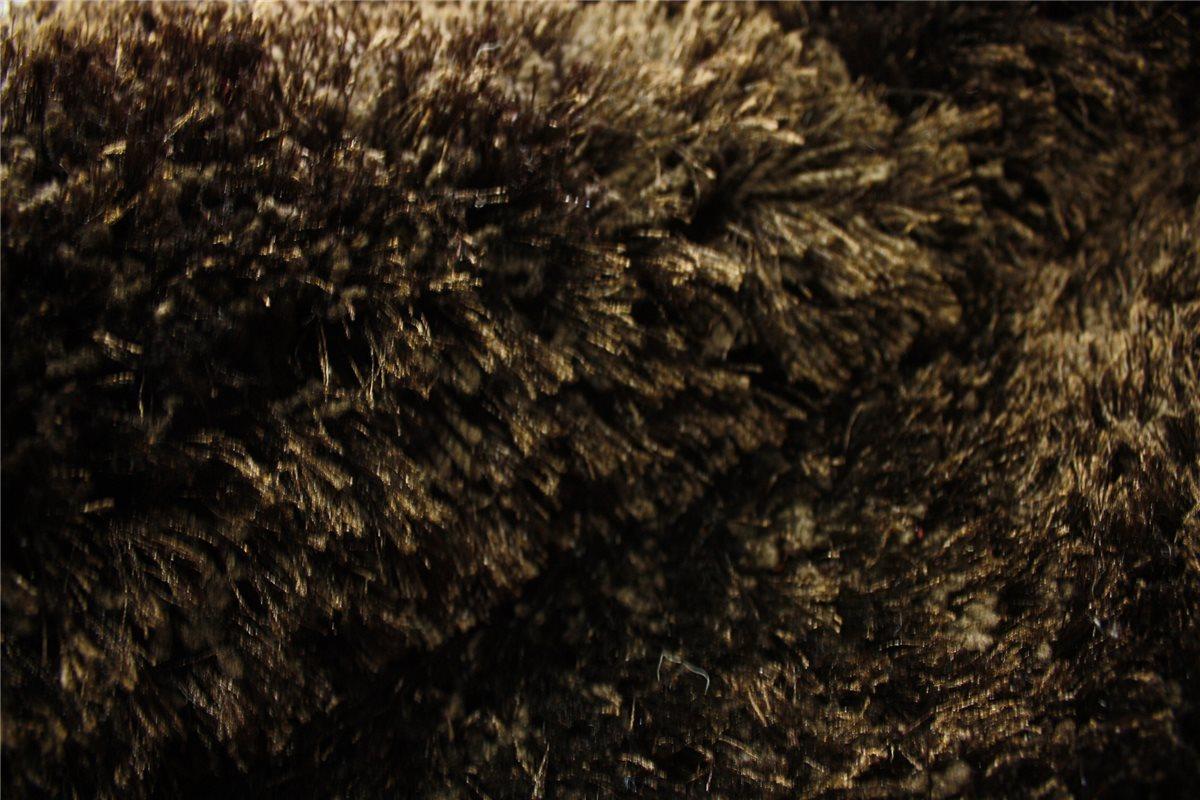 Alta calidad alfombra shaggy pelo largo alto 160x230 cm chocolate marr n ebay - Alfombras shaggy pelo largo ...