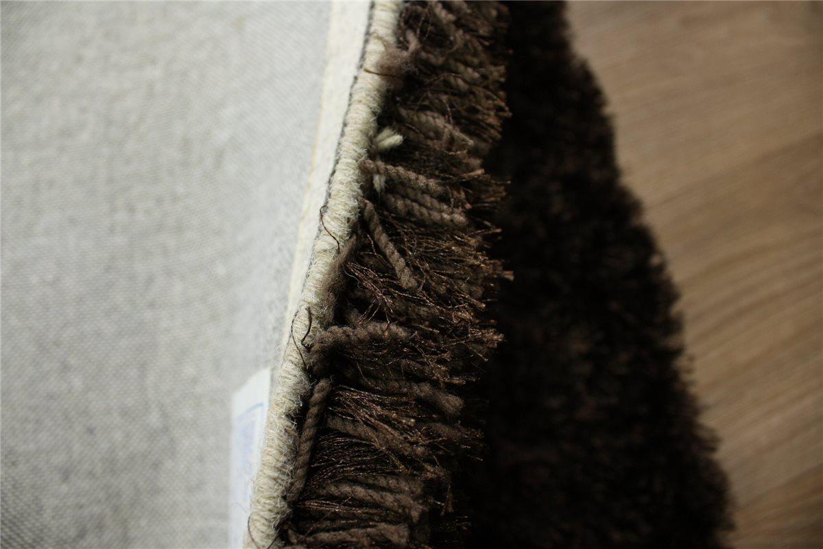 hochwertiger teppich shaggy langflor hochflor 160x230 cm choco braun ebay. Black Bedroom Furniture Sets. Home Design Ideas