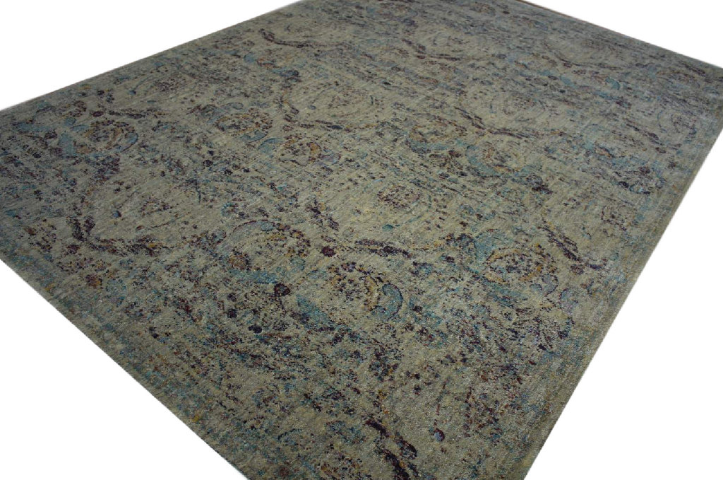 designer teppich velour antik look 200x285 cm grau beige meliert ebay. Black Bedroom Furniture Sets. Home Design Ideas