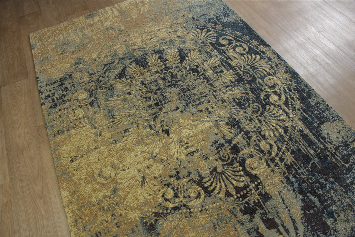 hochwertiger teppich velour vintage fein used look 160x230. Black Bedroom Furniture Sets. Home Design Ideas