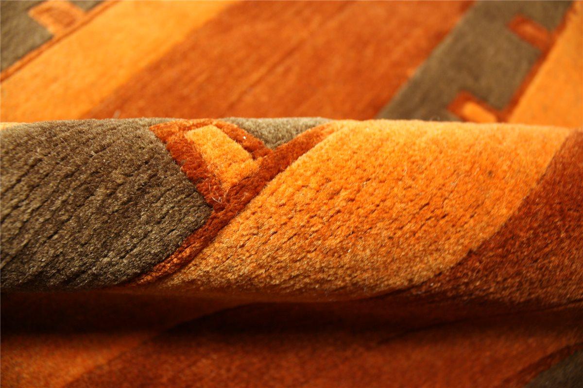 ~ Teppich Original Nepal fein mit Seide Brücke ~ 90×160 cm