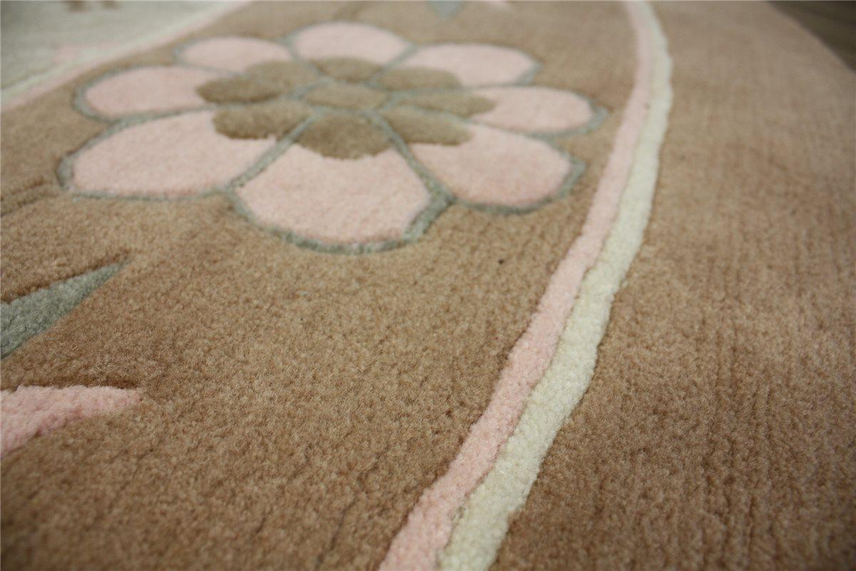 teppich original nepal rund 250x250 cm 100 wolle 5kg m braun ebay