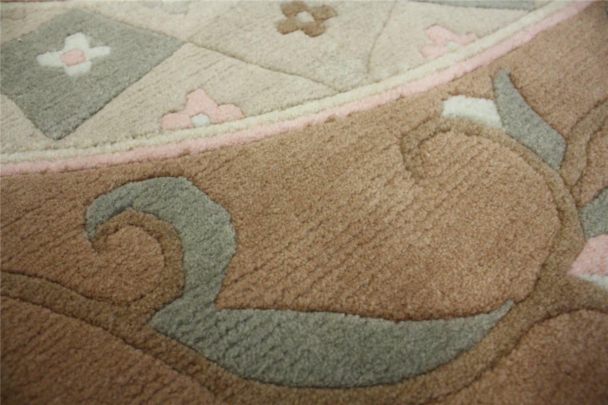 teppich original nepal rund 250x250 cm 100 wolle. Black Bedroom Furniture Sets. Home Design Ideas