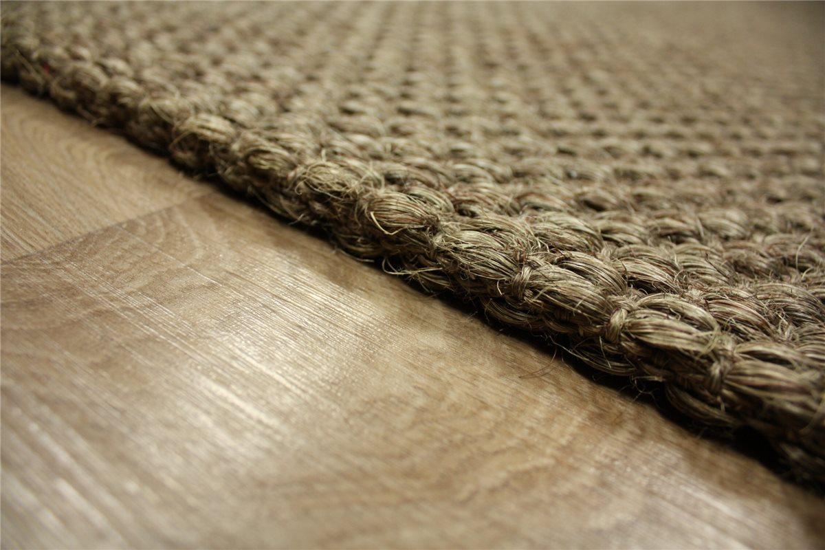 hochwertiger teppich dicke echte sisal 200x300 cm rutschfest braunt ne ebay. Black Bedroom Furniture Sets. Home Design Ideas
